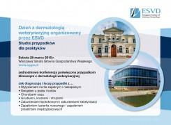 Dzień z dermatologią weterynaryjną organizowany przez ESVD